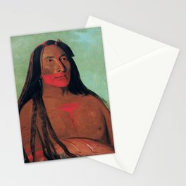 Máh-to-tóh-pa, Four Bears, Second Chief in Mourning, George Catlin Stationery Cards