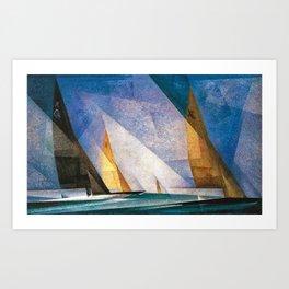 Sailboats by Lyonel Feininger Art Print