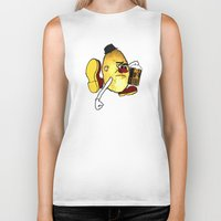 potato Biker Tanks featuring Potato Skin by Sam Sinister