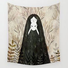 under the mask Wall Tapestry