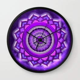 "Sahasrara Chakra - Crown Chakra - Series ""Open Chakra"" Wall Clock"