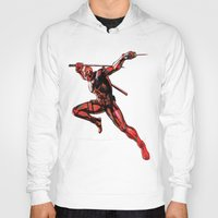 xmen Hoodies featuring DEADPOOL PAINT SWIRL marvel xmen x-men film movie by Radiopeach