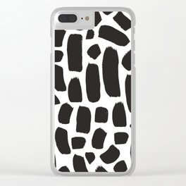 Brush strokes pattern #9 Clear iPhone Case