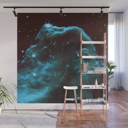 GalaXY Deep Teal Horsehead Nebula Wall Mural