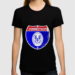 Connecticut  Interstate Sign T-shirt