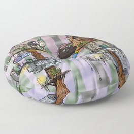 Modern Pixie Kingdom Floor Pillow
