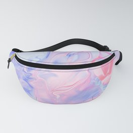 Lavender & Pink Watercolor Marble Fanny Pack