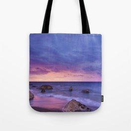 Ocean Beach Dusk Sunset Photography Tote Bag