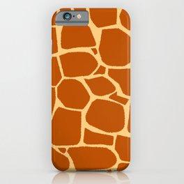 Giraffe print pattern iPhone Case