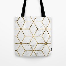 Gatsby golden marble Tote Bag