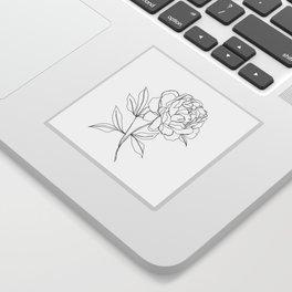 Botanical illustration line drawing - Peony Sticker