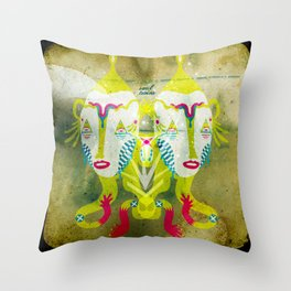 Soul Twins Throw Pillow