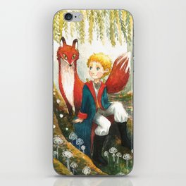 The little Prince and the fox iPhone Skin