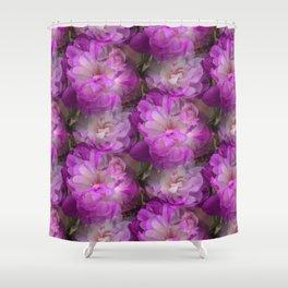 Plenty of peony tulips Shower Curtain