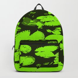 Water lily leaves black Backpack