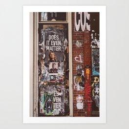 East Village Door Art Print