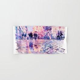 Dublin Watercolor Streetscape Hand & Bath Towel