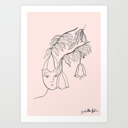 Fitting in Art Print