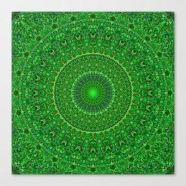 Spiritual Forest Garden Mandala Canvas Print