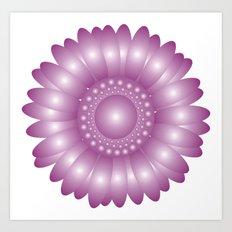 CVF0079 Sunflower Purple Art Print