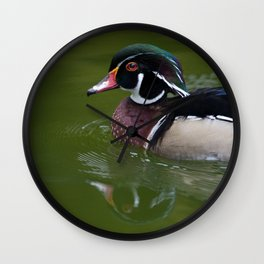 Funky Duck Refelection Wall Clock