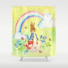 Hoppy The Bunny 2 Shower Curtain