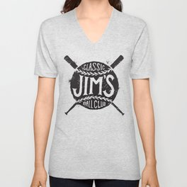 Classic Jim's Ball Club - Tshirt Unisex V-Neck
