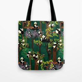 Both Species of Panda - Green Tote Bag