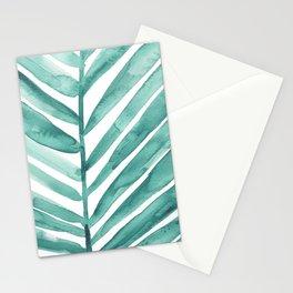 Green Palm Leaf Crop Stationery Cards