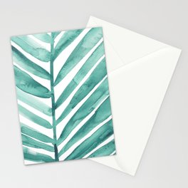 Green Palm Leaf Crop Stationery Cards