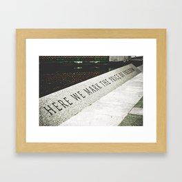 Here we mark the price of freedom II Framed Art Print