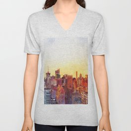 Sunshine in NYC Unisex V-Neck