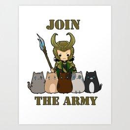 Cat Army Art Print