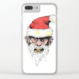 Rabies Santa Clear iPhone Case