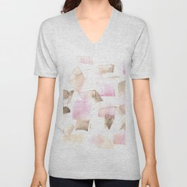 180515 Abstract Watercolour Wp 8 | Watercolor Brush Strokes Unisex V-Neck