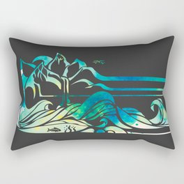 Wild and Free - Charcoal Rectangular Pillow