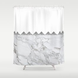 Adoring Grey Shower Curtain