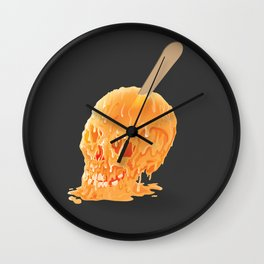 Popsicle Skull Wall Clock