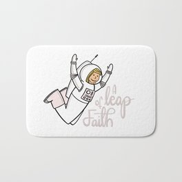 A leap of faith Bath Mat