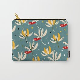 Vanilla flowers on ocean background Carry-All Pouch