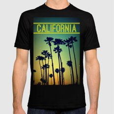 CALIFORNIA Black Mens Fitted Tee X-LARGE