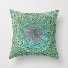 Faded Lace Throw Pillow