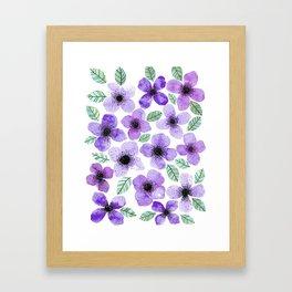 Lilly Lila Framed Art Print
