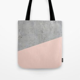 Concrete and pale dogwood color Tote Bag