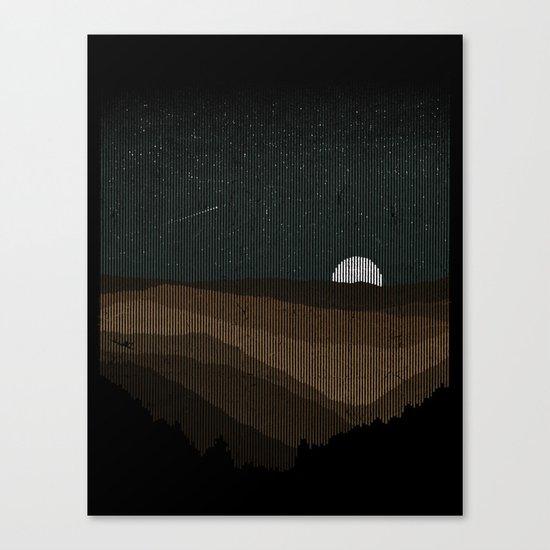 Moonrise (Sepia) Canvas Print