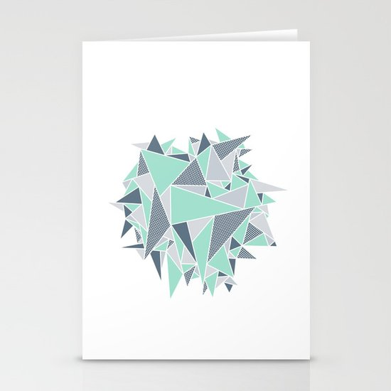 EXPLOSION-TRIANGLE Stationery Cards