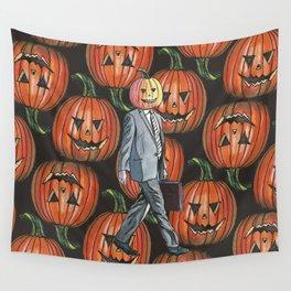 Pumpkinhead Paper Salesman Wall Tapestry