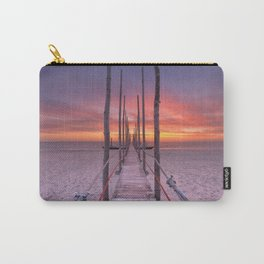 I - Seaside jetty at sunrise on Texel island, The Netherlands Carry-All Pouch
