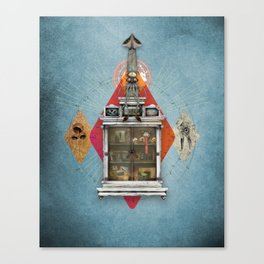 Squid Ascendant Upon the Cabinet of Thackery v.2 Canvas Print