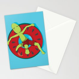 Watermelon chilling Stationery Cards